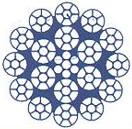 Многопрядный канат с пластическим обжатием прядей-2